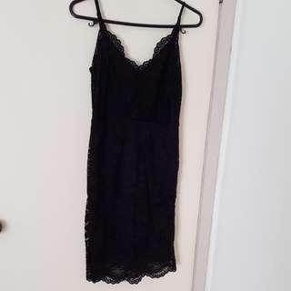 Black laced dress