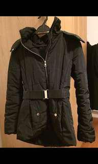 H&M black fur Winter Jacket
