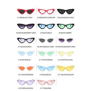 [NEW] KOREAN SUNGLASSES CAT EYE GLASSES CLEAR COLORFUL