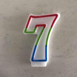 #7 birthday candle