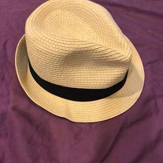 🚚 日本沖繩編織休閒紳士帽僅試戴過