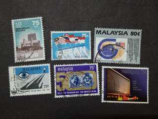 Mix Collection Of Malaysia 75c & 80c Stamps - 6v Used