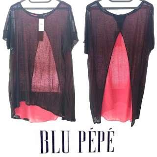 BARU TAPI 1/2 HARGA BELI? 😍😱 Black Pink See Through Blouse T - Shirt Baju Hitam Pink Transparan Baru New Kizomba Style Tumblr Jual Rugi Murah Cepat