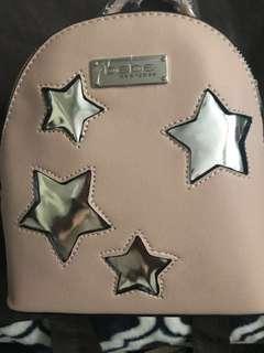 BeBe Gigi Star mini backpack in blush/silver BNWT