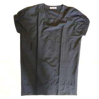 Marni Black Dress Clothes Baju Hitam Polos Casual