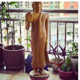 Sri Lankan  wooden Buddha