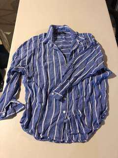 ZARA striped slouchy dress shirt
