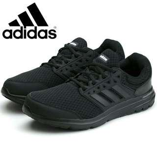 Adidas日版 GLX 3 Wide U 全黑色 Galaxy cloudfoam 超輕 男裝運動鞋波鞋跑鞋