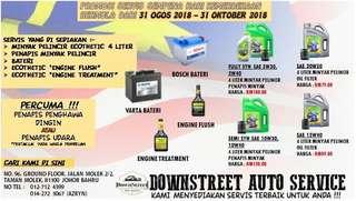 Promosi Hari Merdeka service oil change