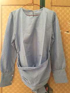 Blue bluse kekinian