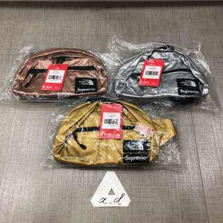 SUPREME X THE NORTH FACE SS18 METALLIC LUMBER II ROO POUCH BAG