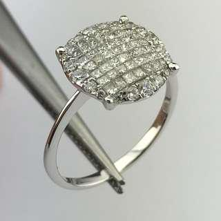 18K白金戒指 74份鑽石 18K Withe gold Ring 0.74ct Diamond