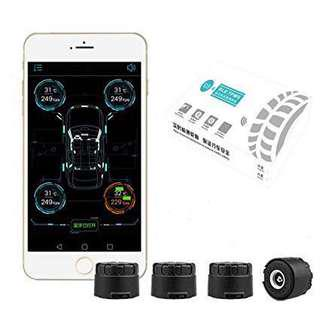 🚚 BLE TPMS iOS/Android Bluetooth 4.0 App-based Tyre Pressure Monitoring System (External install)