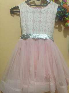 Pink Dress Bawah ngembang High quality #merdeka17