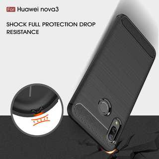🚚 TPU Shockproof Lined Case for Huawei Nova 3i (Black)