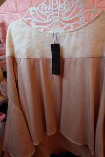 Zalia Raya 2018  Lace piece Flare Sleeve Top Kurung