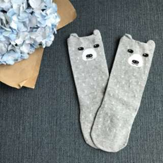 Grey Bearie - Animal Knee Length Socks