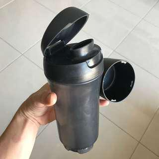 ECO Tupperware Water bottle with pill / powder case