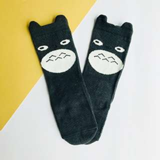 Dark Grey Totoro - Animal Knee Length Socks