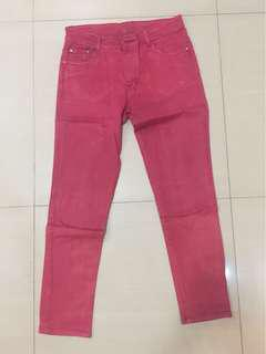 Leara Woman Red Jeans