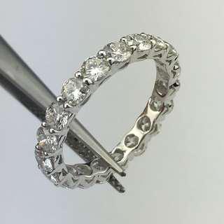 18K白金戒指 2卡41份鑽石 18K Withe gold Ring 2.41ct Diamond