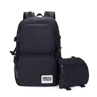 Porter Backpack Wear Resistance Travel Bag, Office, Camping, Free Sling Bag and Free Cable