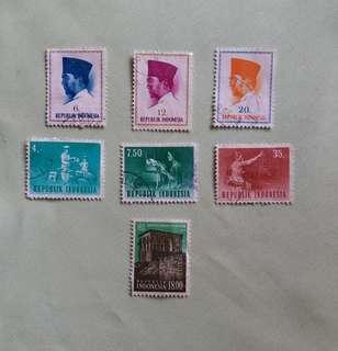Indonesia Vintage Stamps