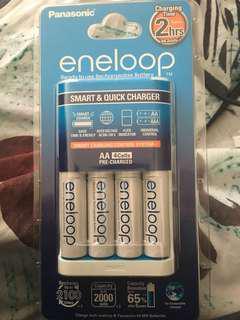Panasonic Battery Charger + Batteries