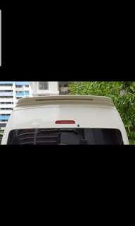 Toyota hiace hiroof spoiler with LED light.