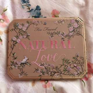 AUTHENTIC Too Faced Natural Love Palette