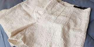 Zara textured white shorts