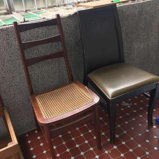 古董實木餐椅 矮椅三張
