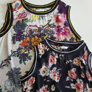 Two Pandini Floral Crop Tops(2 pieces)
