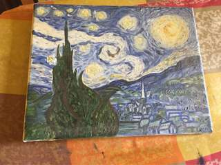 Copied Starry Night by Van Gohg