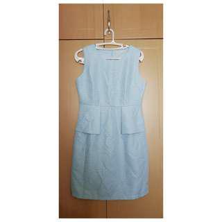 CLN powder blue dress