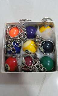 Guinness Pool ball key chain - 9 piece
