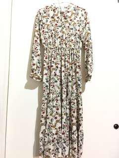 韓國品牌 碎花長洋裝