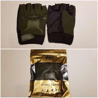 Tactical Gloves (Olive Green) M size Half Finger