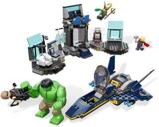 Incomplete - 6868 Hulk's Helicarrier Breakout