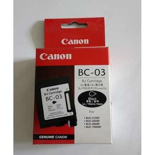 Canon BC-03 BJ Black cartidge