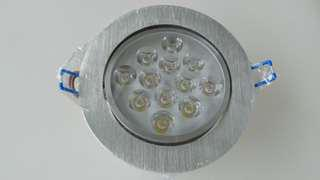 Round recessed 12w LED downlight daylight - clearance sale