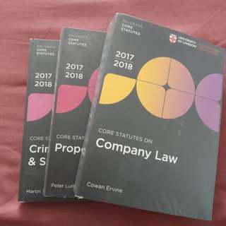 Palgrave statute books set