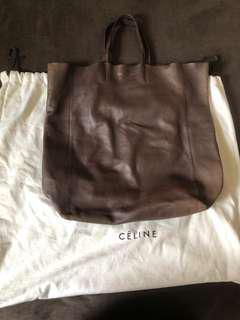 Celine Lambskin Leather Vertical Tote Bag