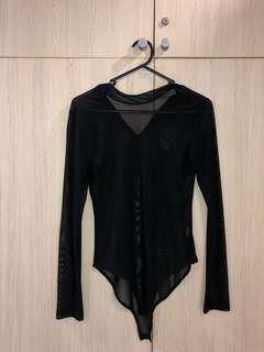 MESH BLACK BODY SUIT