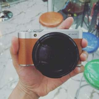 Kredit kamera mirrorless fujifilm X-A10 dp mulai 750rb aja