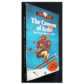 Lone Wolf #3 The Caverns of Kalte Gamebook (Original Sparrow Edition)