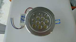 Recessed adjustable 12w led downlight, WW - clearance sale