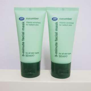 Boots Cucumber 3-Minute Facial Mask 50ml