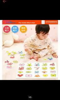 Numbers and letters peg puzzles