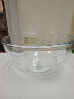 玻璃Mixing bowl 2L made in france 99%new